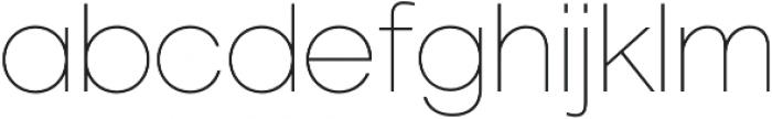 Geovetica SQ Thin otf (100) Font LOWERCASE