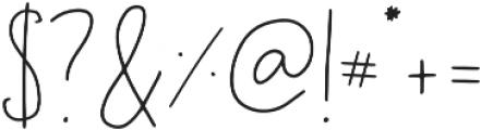 Geranium Regular otf (400) Font OTHER CHARS