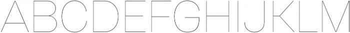 Gerlach Sans 100 otf (100) Font UPPERCASE
