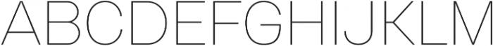 Gerlach Sans 200 otf (200) Font UPPERCASE