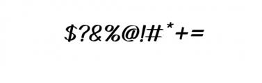 GedrickItalic.ttf Font OTHER CHARS