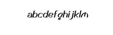 GedrickItalic.ttf Font LOWERCASE