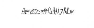 Gefan.otf Font LOWERCASE