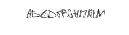 Gefan.ttf Font UPPERCASE