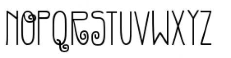 Gentil Bold Font UPPERCASE