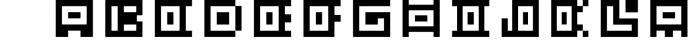 GeoBlocks - a geometric font set of blocks and shapes! 1 Font UPPERCASE
