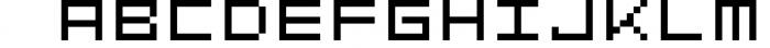GeoBlocks - a geometric font set of blocks and shapes! 1 Font LOWERCASE