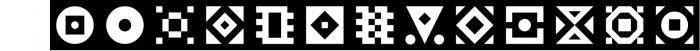 GeoBlocks - a geometric font set of blocks and shapes! 2 Font LOWERCASE
