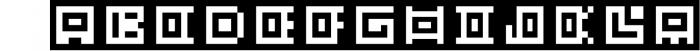 GeoBlocks - a geometric font set of blocks and shapes! 3 Font UPPERCASE