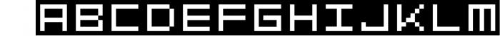 GeoBlocks - a geometric font set of blocks and shapes! 3 Font LOWERCASE