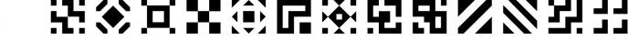 GeoBlocks - a geometric font set of blocks and shapes! Font UPPERCASE