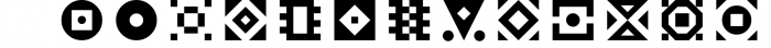 GeoBlocks - a geometric font set of blocks and shapes! Font LOWERCASE