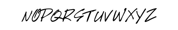 GE HandyScript Font UPPERCASE