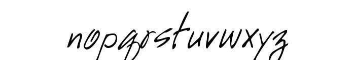 GE HandyScript Font LOWERCASE