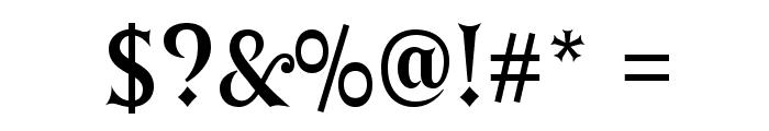 GErontoBis Font OTHER CHARS