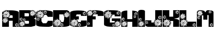 Gear Crank Font LOWERCASE