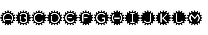 GearBox Font UPPERCASE