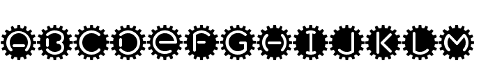 GearBox Font LOWERCASE