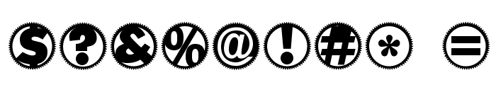 Gearing-ZahnradABC Font OTHER CHARS
