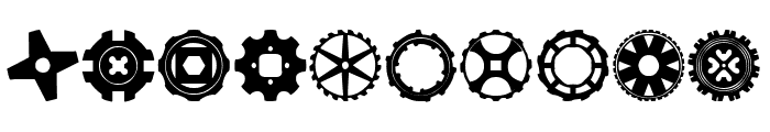 Gears Icons Font OTHER CHARS