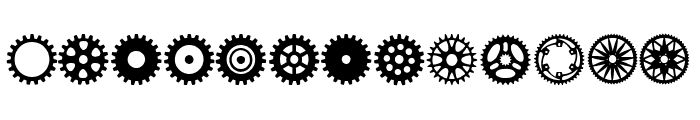 Gears Icons Font UPPERCASE