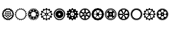 Gears Icons Font LOWERCASE