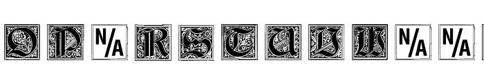 Gebetsbuch Initialen Font UPPERCASE