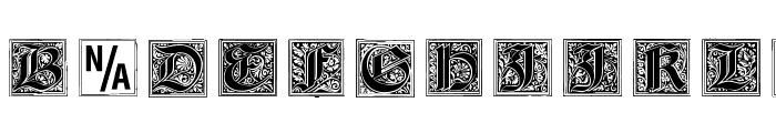 Gebetsbuch Initialen Font LOWERCASE