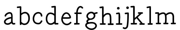 Gecko Font LOWERCASE