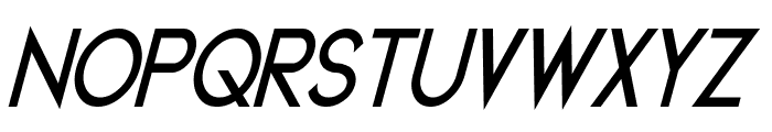 Geddes Bold Italic Font UPPERCASE