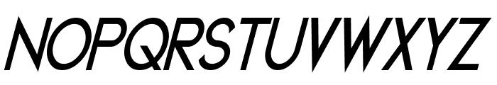 Geddes Narrow Bold Italic Font UPPERCASE