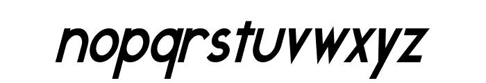 Geddes Narrow Bold Italic Font LOWERCASE