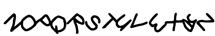 Gee_WP_Handwriting_2016_Skew Book Font UPPERCASE