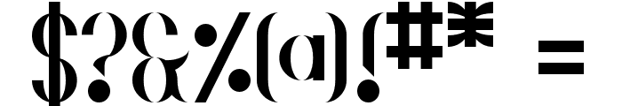 Gehenna Regular Font OTHER CHARS