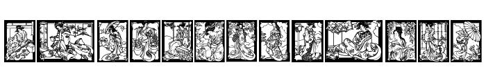 Geisha Font LOWERCASE