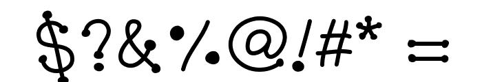 GelDoticaJumpy Font OTHER CHARS