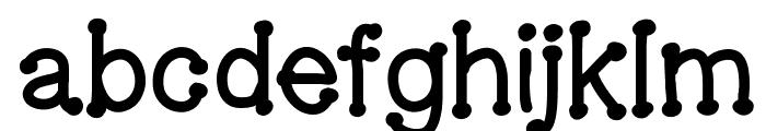GelDoticaLowerCaseThick Font LOWERCASE