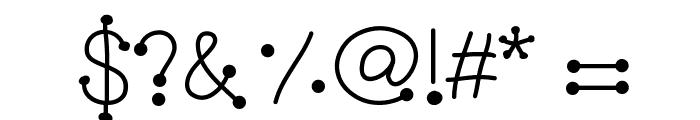 GelDoticaPlainLight Font OTHER CHARS