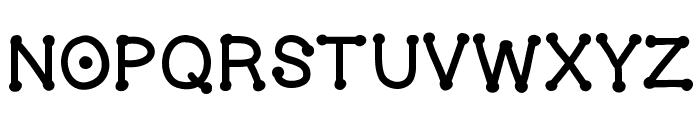 GelDoticaThick Font LOWERCASE