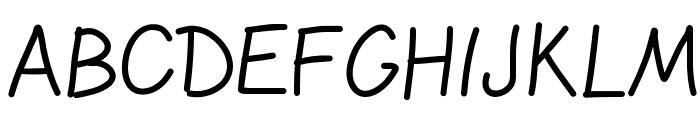 GelPenLight Font UPPERCASE