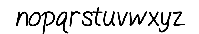 GelPenLight Font LOWERCASE