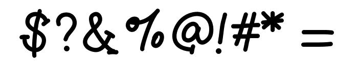 GelPenSerifLight Font OTHER CHARS