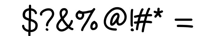 GelPenUprightLight Font OTHER CHARS