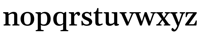 Gelasio Medium Font LOWERCASE