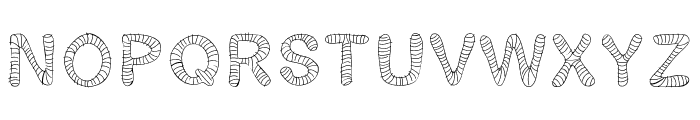 Gelstripped Font LOWERCASE