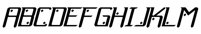 Gemcut Italic Font UPPERCASE
