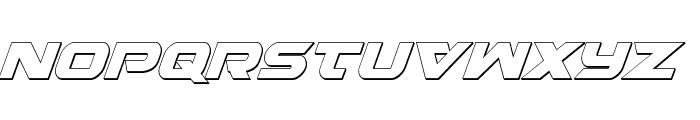 Gemina 2 3D Italic Font UPPERCASE