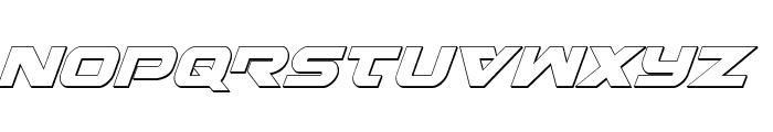 Gemina 3D Italic Font UPPERCASE