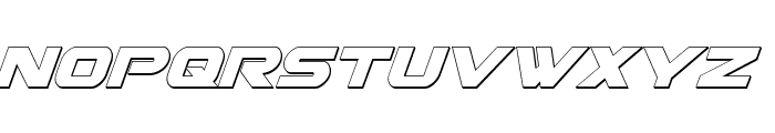 Gemina 3D Italic Font LOWERCASE