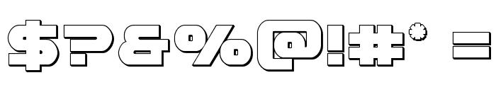 Gemina 3D Regular Font OTHER CHARS